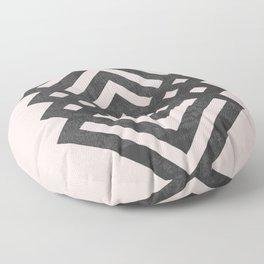 Geometric loop Floor Pillow