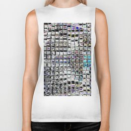 Looking Down at the City Lights Biker Tank