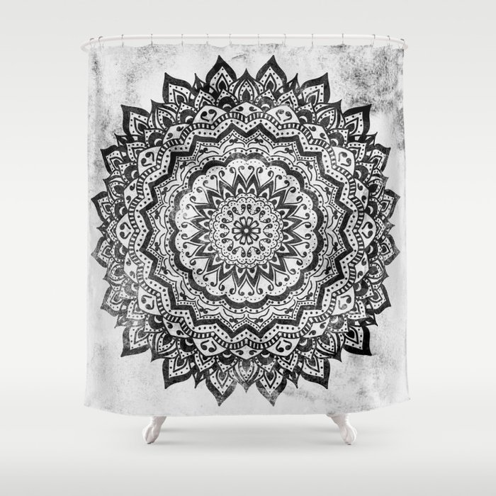 BLACK JEWEL MANDALA Shower Curtain