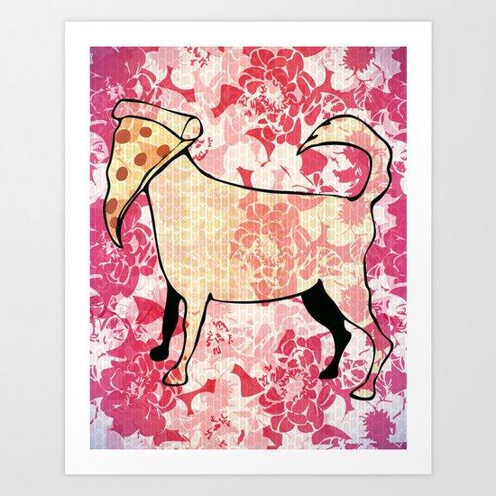 Pizza Dog Art Print