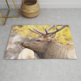 Watercolor Elk Bull 09, Estes Park, Colorado, Patience Rug