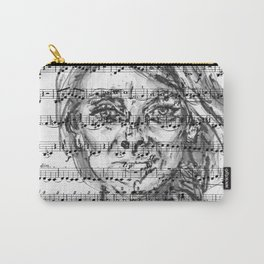 Music Sheet Girl 1 Carry-All Pouch