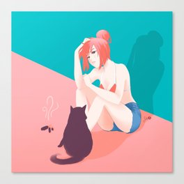 Cat Owner or Slave? Canvas Print