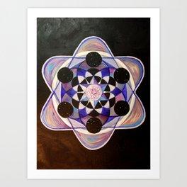Cymatics of Ajna Art Print