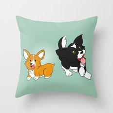 Doggies! Throw Pillow