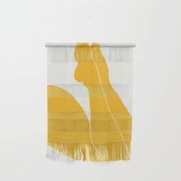 Nude in yellow 3 Wall Hanging