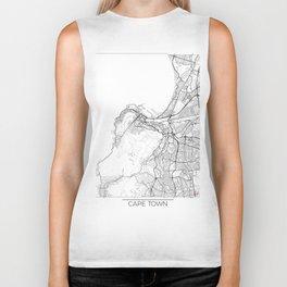 Cape Town Map White Biker Tank