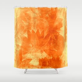 faded sunflowers Shower Curtain