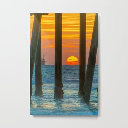 The Melting Sun Metal Print