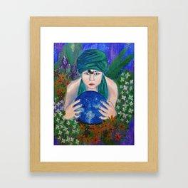 The Crystal Ball Framed Art Print