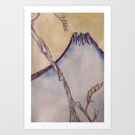 Japanese Mountain Art Print