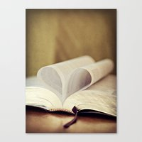 bible Canvas Prints featuring Love Bible by Vintage Rain Photography