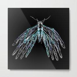 Anatomical Moth 2 Metal Print