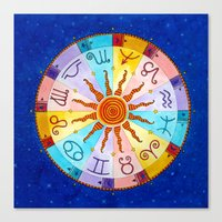 zodiac Canvas Prints featuring Zodiac by Sandra Nascimento