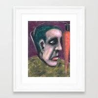 vegan Framed Art Prints featuring VEGAN by Laertis Art