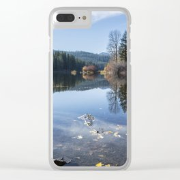 Beautiful Fall Day at Fish Lake Clear iPhone Case