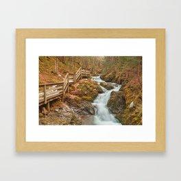 Centipede Step Falls Framed Art Print