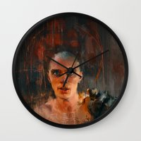 mad max Wall Clocks featuring Nux Mad Max by Wisesnail