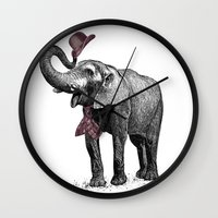gentleman Wall Clocks featuring Gentleman by sookkol