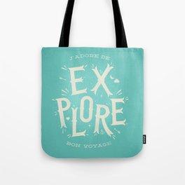J'adore de Explore Tote Bag