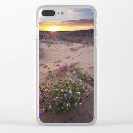 Desert Flower Sunrise Clear iPhone Case