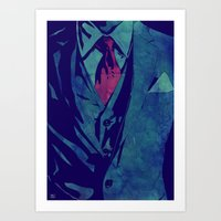 gentleman Art Prints featuring Gentleman by Giuseppe Cristiano