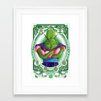 dragonball z Framed Art Prints featuring DragonBall Z - Namek House by Art of Mike