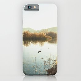 Autumn Lake Tranquility iPhone Case