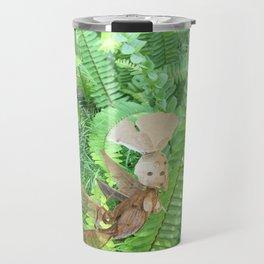 She Flies Around in the Spring Ferns Travel Mug