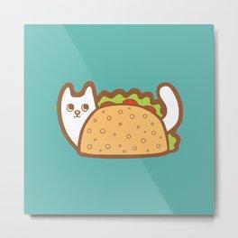 Taco Cat White Metal Print