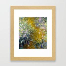 Claude Monet The Path through the Irises Framed Art Print