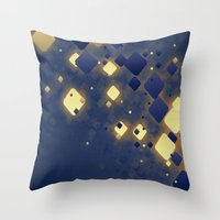 data Throw Pillows featuring Data Skys by ReinventZen