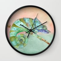 karma Wall Clocks featuring Karma by Catherine Holcombe