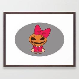 PumkingHead Girl Framed Art Print