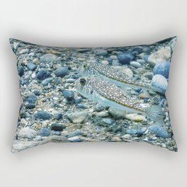 Puffer Fish Swimming Underwater, blowfish, balloonfish, globefish Rectangular Pillow