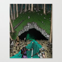 Party Approaching Cave Canvas Print