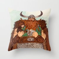 how to train your dragon Throw Pillows featuring How to Train Your Dragon by Jennifer Chan