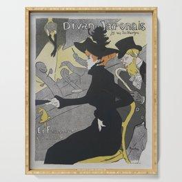 Divan Japonais, 1892 H. T. Lautrec Serving Tray