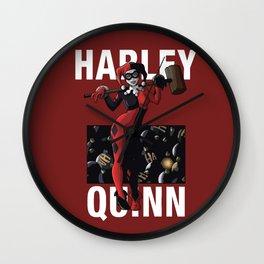 Suicide Squad Harley Quinn Comic Book Artwork Wall Clock