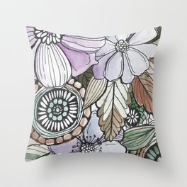 Boho Pop - Earth Tones Throw Pillow