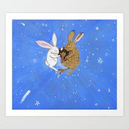 Sleep With The Bunnies Art Print