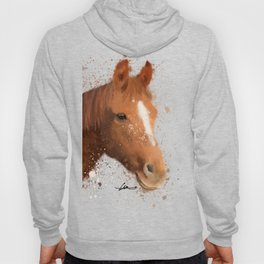 Brown and White Horse Hoody