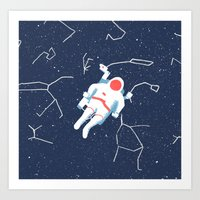 spaceman Art Prints featuring Spaceman by James White