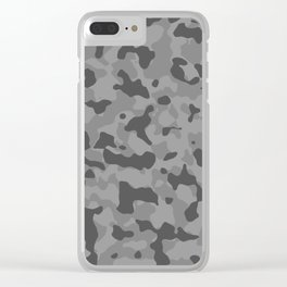 Camouflage Gray Clear iPhone Case