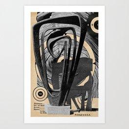 Iron & Wood Art Print