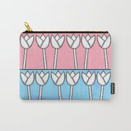 Lots of Tulips - Pink Blue Carry-All Pouch