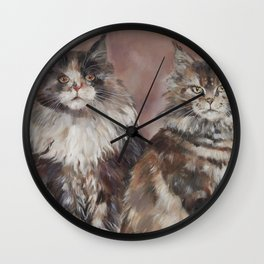 Maine Coons Wall Clock