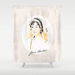Portrait of a lady writer - Jane Austen Shower Curtain