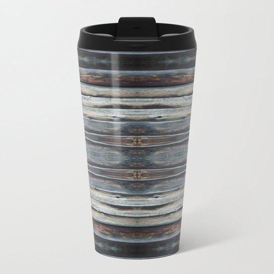 wood 2A Metal Travel Mug