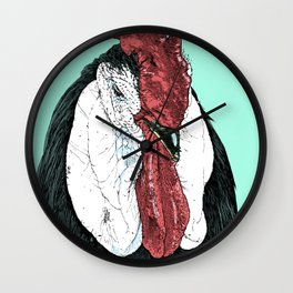 Rooster II Color Wall Clock